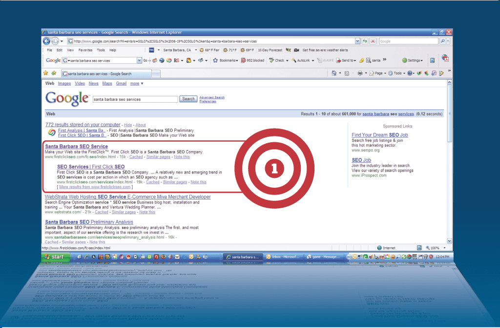 First Click Inc SEO Google Search Target
