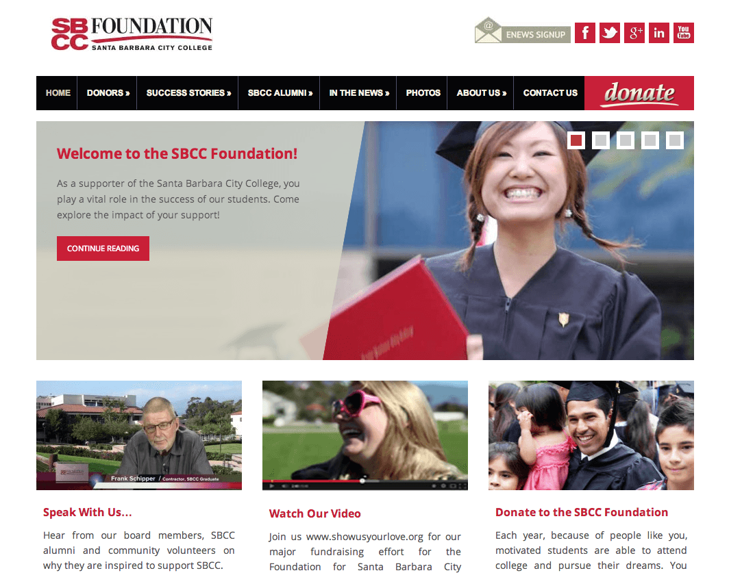 Sbcc Foundation Website