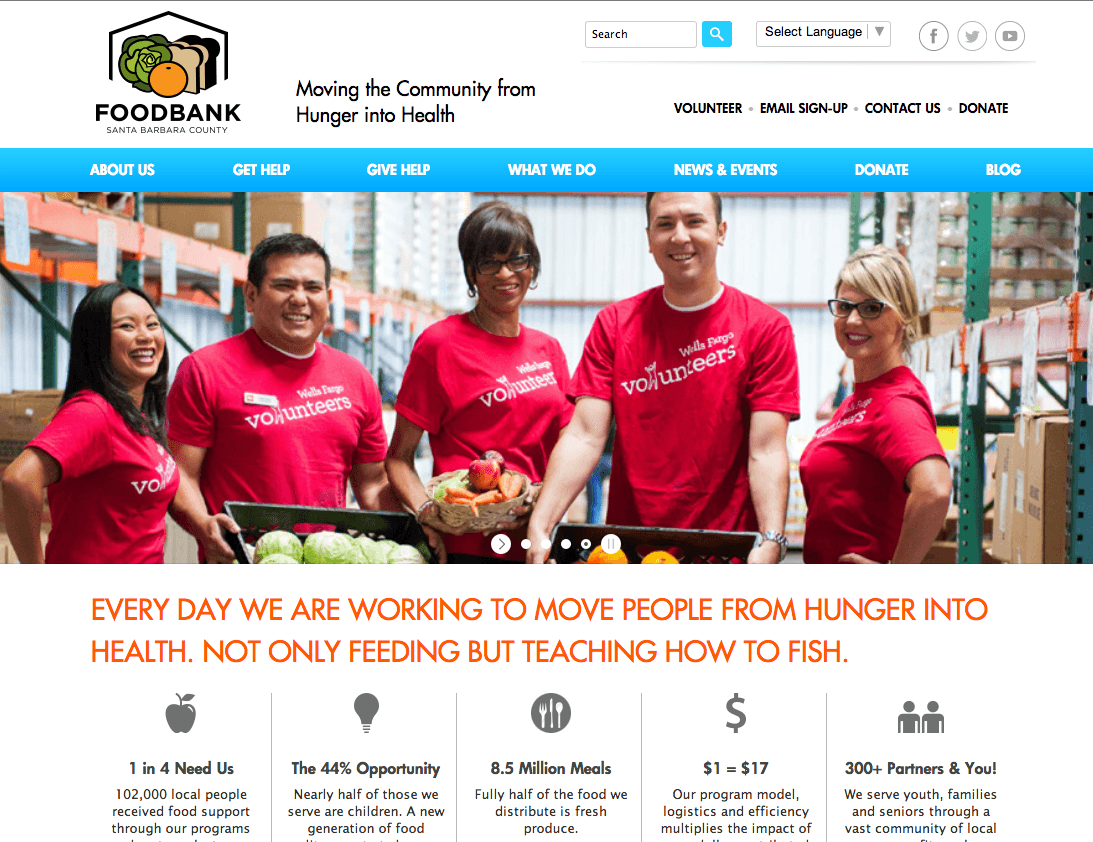 Food Bank Website Development
