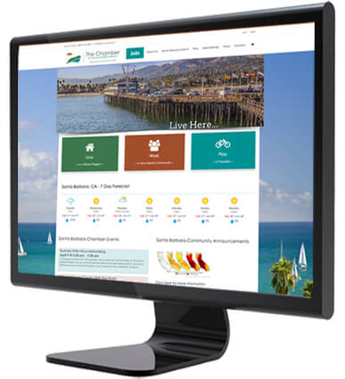 example of first click santa barbara chamber's webdesign