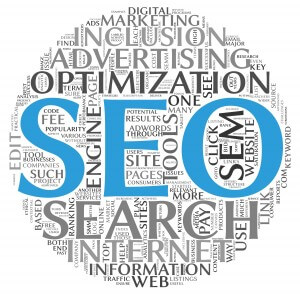 Word Cloud with SEO related Words