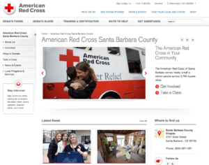 Red cross website seo