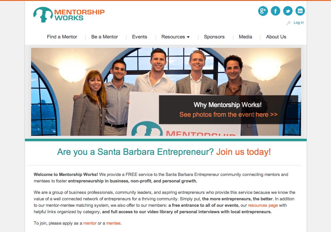 mentorship works website development